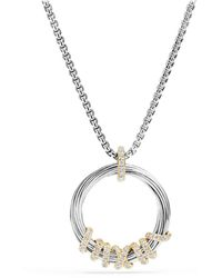 David Yurman - Helena Pendant Necklace With Diamonds And 18k Gold - Lyst
