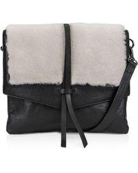 Kooba - Yukon Medium Leather & Shearling Crossbody - Lyst