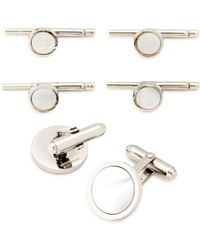 David Donahue - Mother-of-pearl Shirt Stud & Cufflink Set - Lyst
