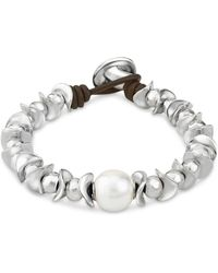 Uno De 50 - The Dessert Pearl Bracelet - Lyst