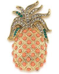 Carolee - Pineapple Brooch - Lyst