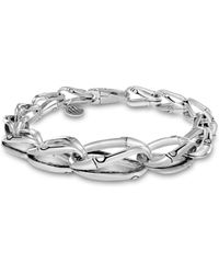 John Hardy - Sterling Silver Bamboo Graduated Link Bracelet - Lyst
