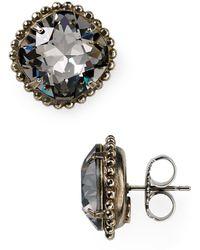 Sorrelli | Round Crystal Stud Earrings | Lyst