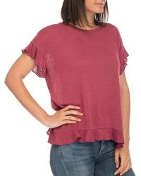 B Collection By Bobeau - Abella Ruffle-trim Tee - Lyst