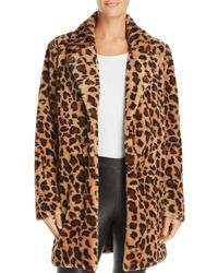 Re:named Kimora Faux-fur Leopard Coat