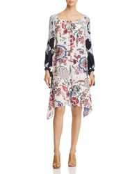 Tory Burch - Happy Times Silk Floral-print Dress - Lyst