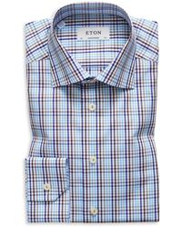 Eton of Sweden - Plaid Regular Fit Dress Shirt - Lyst