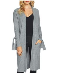 1.STATE - Tie-sleeve Long Cardigan - Lyst