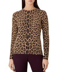 Hobbs - Hazel Leopard Print Merino Wool Jumper - Lyst