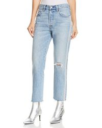 Levi's - 501 Crop Straight Jeans In Diamond In The Rough - Lyst