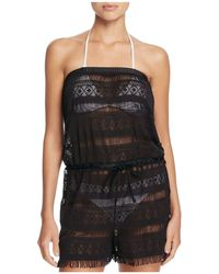Blush By Profile - Taboo Strapless Romper Swim Cover-up - Lyst
