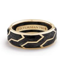 David Yurman - Men's Forged Carbon Band Ring In 18k Gold - Lyst