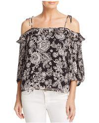 Ella Moss - Ria Floral Cold-shoulder Top - Lyst