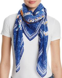 Fraas - Floral Medallion Print Square Scarf - Lyst