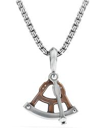David Yurman - Maritime Sextant Amulet With Bronze - Lyst
