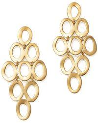 Ippolita - 18k Yellow Gold Open Cascade Earrings - Lyst