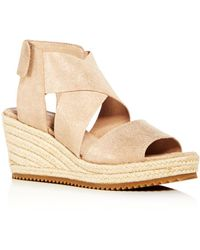 e29e2459ea996 Eileen Fisher - Women s Willow Nubuck Leather Platform Espadrille Sandals -  Lyst