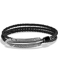 David Yurman - Frontier Feather Triple-wrap Bracelet In Black With Black Onyx - Lyst