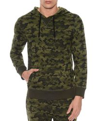 2xist - Camouflage Terry Pullover Hoodie Lounge Sweatshirt - Lyst