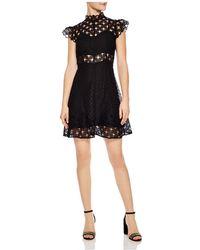 Sandro | Jannie Lace A-line Mini Dress | Lyst