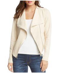 Karen Kane - Faux-suede Moto Jacket - Lyst