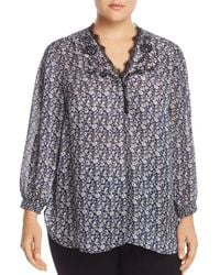 Lucky Brand - Lace-trim Floral-print Top - Lyst