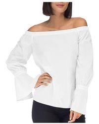 B Collection By Bobeau - Coye Poplin Off-the-shoulder Top - Lyst