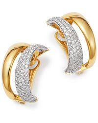 Roberto Coin - 18k White & Yellow Gold Scalare Convertible Diamond Earrings - Lyst
