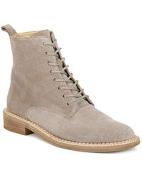 Vince - Women's Cabria Suede Lace Up Booties - Lyst