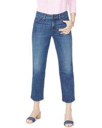 NYDJ - Jenna Straight Ankle Jeans In Desert Gold - Lyst