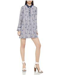 BCBGeneration | Embroidered Pinstriped Shirt Dress | Lyst