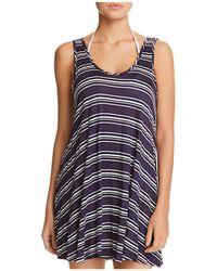 J Valdi - Striped Tank Dress Swim Cover-up - Lyst