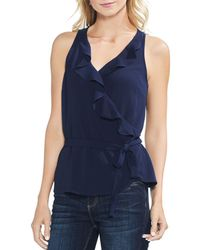 Vince Camuto - Ruffle Wrap Blouse - Lyst