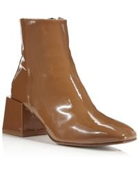 LOQ - Lazaro Patent Leather Block Heel Booties - Lyst