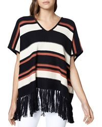 Sanctuary - Mojave Striped Poncho Top - Lyst