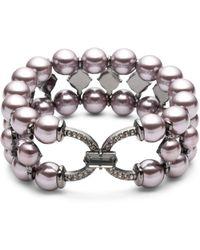 Carolee - Simulated Pearl Stretch Bracelet - Lyst