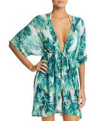 J Valdi - Bermuda Tie-front Kimono Swim Cover-up - Lyst