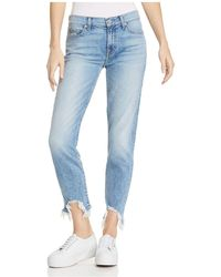 7 For All Mankind - Roxanne Ankle Straight Jeans In Light Gallery Row 3 - Lyst