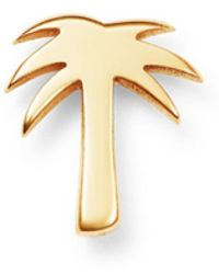 Zoe Chicco - 14k Yellow Gold Single Itty Bitty Palm Tree Stud Earring - Lyst