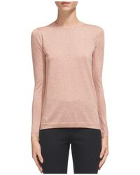 Whistles   Sparkle Open-knit Seam Detail Sweater   Lyst