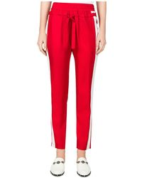 The Kooples - Striped Cropped Track Trousers - Lyst