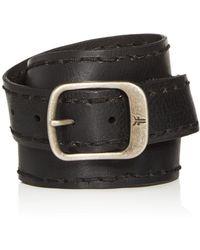 Frye - Men's Stitched - Edge Leather Belt - Lyst