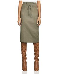 BCBGMAXAZRIA - Briza Lace-up Pencil Skirt - Lyst