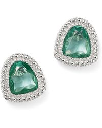 Judith Ripka | Sterling Silver Margot Stud Earrings With Paraiba Spinel | Lyst