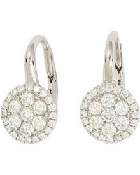 Frederic Sage - 18k White Gold Firenze Diamond Small Cluster Earrings - Lyst