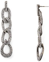 Aqua | Linked Drop Earrings | Lyst