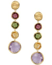 Marco Bicego - Jaipur 18k Yellow Gold And Multi-stone Drop Earrings - Lyst