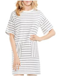 Vince Camuto - Mixed-stripe Tee Dress - Lyst