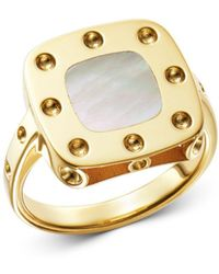Roberto Coin - 18k Yellow Gold Pois Moi Mother-of-pearl Ring - Lyst