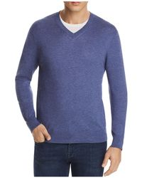 Bloomingdale's - V-neck Cotton-cashmere Sweater - Lyst